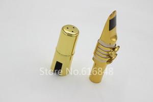 Dukoff 금속 바리톤 색소폰 용 마우스 피스 Brass Gold Lacquer 악기 액세서리 사이즈 5 6 7 8 9 무료 배송