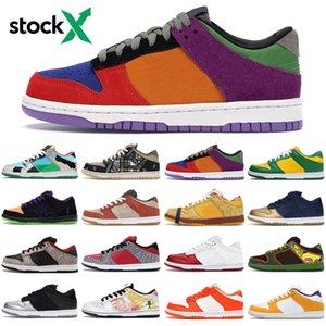 Top chunky dunky sb dunk low travis scott stock x men women running shoes outdoor platform mens womens trainers sports sneakers runners