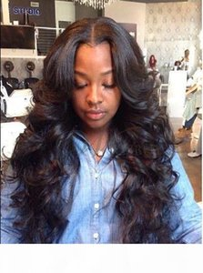 100% Indian Virgin Human Hair Wigs for Black Women Lace Front Wigs Human Hair Natural Color DHL free shipping