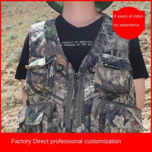 Good three-color bionic camouflage and photography fishing bird-watching Good three-color bionic camouflage hunting and hunting vest photogr