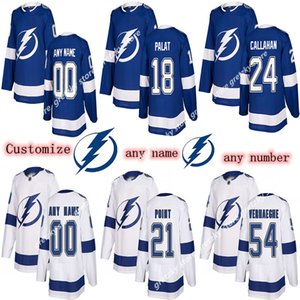 Herrenkinder Damen Tampa Bay Lightning Trikots 91 Steven Stamkos 86 Nikita Kucherov Hedman Passen Sie eine beliebige Namenshockey-Jersey an