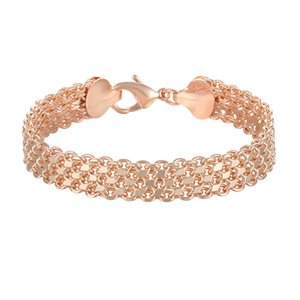 10MM 12MM Big Wide For Women Men Bracelet 585 Rose Gold Color Curb Catenary Chains(No red box)