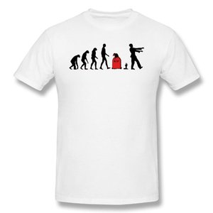 T Shirts Men Evolution Zombie T-shirt High Quality Tee Father Day Tops Clothing 100% Cotton residented evil Zombie Game