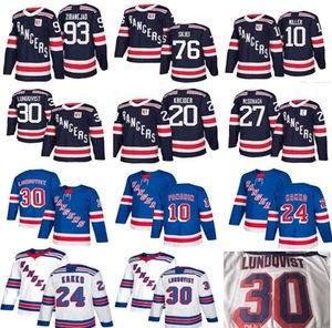 20 24 10 Kaapo Kakko Artemi Panarin 30 Henrik Lundqvist 27 Ryan McDonagh Nash Skjei Mika Zibanejad Chris Kreider NY New York Rangers jerseys