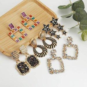 Declaração de moda brincos 2019 grandes brincos geométricos para mulheres penduradas brincos de pendurar gota brincando de jóias modernas