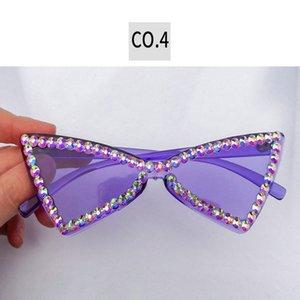 2020 Frameless Diamanten Sonnenbrille und weist Kristalldiamant Ne Straße Schuss Sonnenbrille Acryl Sonnenbrille Bewertungen Online-Shopping und Bewertungen