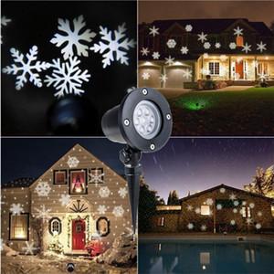 크리스마스 눈송이 프로젝터 레이저 옥외 Led 빛 방수 180도 회전 크리스마스 신년 파티 홈 가든 장식 Y19061103
