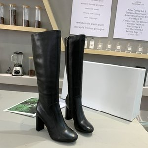 The New High-end Quality Temperament Women's Leather Leather Sheepskin Sheepskin Thick Heel Height Boots 13cm Size35-41 132148