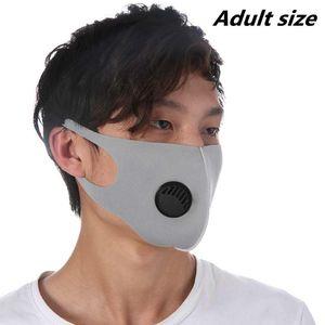 10 Farben Erwachsene Gesichtsmaske Atemventil Maske Waschbar Wiederverwendbare Anti-Staub-Camouflage-Gesichtsmasken Ice Silk Cotton Masken ZZA1871