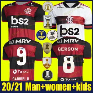 2020 Flamengo soccer jersey DE ARRASCAETA GABRIEL Barbosa magliette di calcio per bambini kit GERSON B.HENRIQUE uniforme Camisa Flamengo Feminina 20/21