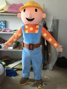 Factory-Outlet-heiße Adult Bob der Baumeister-Maskottchenkostüm Bob der Buildermascot Kostüm Bob der Baumeister-Kostüm