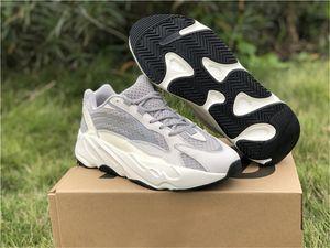 2019 Nuevo Auténtico 700 V2 Estático Kanye West Hombre Mujeres Zapatos al aire libre Runner Wave Malva Triple Blanco EF2829 Zapatillas deportivas con caja original