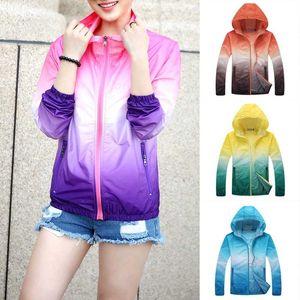 Women Thin Sun Protection Sports Jackets Quick Dry Cycling Jackets Outdoor Running Hiking Windbreaker Beachwear Sunscreen Cover