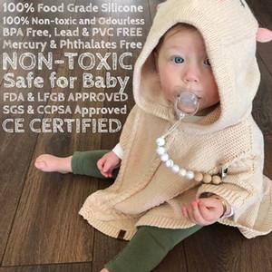 Neue INS Baby Holzperle Schnullerkette Clips mit Abdeckung Außenhandel Heißer Verkauf Hand Made Natural Infant Baby Liebenswürdige Schnuller Halter A7818