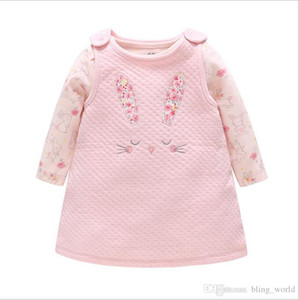 Baby Girl Clothing Sets Baby Dress & Romper Suits Printed Romper & A-Line Dress With Embroidery Infant Girl Spring Fall Clothes LM100