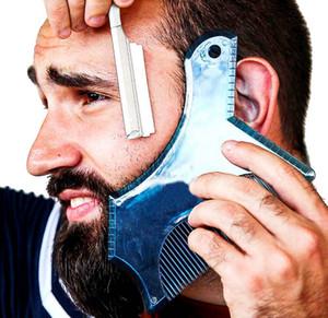 새로운 1PCS 수염 스타일링 도구 남자 수염 쉐이핑 템플릿 수염 면도 페이스 케어 모델링 도구 선물 남편 개인화 된 선물에 대한