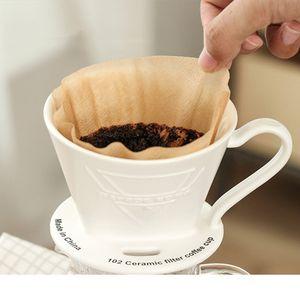 100 pc / sacchetto di legno mano originale Drip Paper Coffee espresso filtro caffè filtro Pack Bustina di tè Colino del verde tè infuser