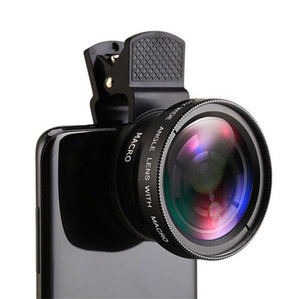 Universal clip universal mobile phone professional 37MM 0.45X 49UV super wide angle + macro two-in-one lens FOR: iphone Samsung