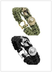 Bracciale Umbrella braccialetto di corda mano monili di lusso di signore del braccialetto di emergenza uso esterno di campeggio di sopravvivenza degli uomini