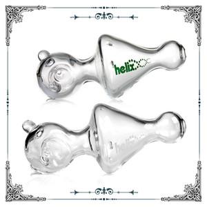 Vendita calda di vetro Helix Bong Pipe Water funzione Hookah Vetro Pipe elica di trasporto