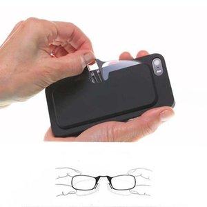 OYDCH Legless Clip Nose Reading Glasses Portable Men's And Women's Presbyopic Glasses Mini Sticky Mobile Phone Case