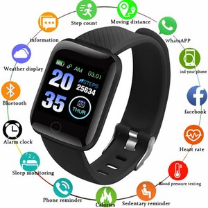 Presión D13 Inteligente hombres del reloj del ritmo cardíaco de sangre a prueba de agua reloj de la aptitud del monitor 116 SmartWatch deporte de las mujeres para Android IOS