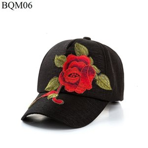 Women's Embroidery Sun Hat You Embroidered Rose Peaked Cap Outdoors Tourism Sunscreen Baseball Hat