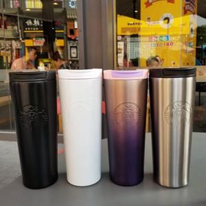 Neue Art und Weise Starbucks Tasse Lavendel Pulver lila Gradienten Göttin Tasse Edelstahl Kaffee begleitet Paar Tasse W959555