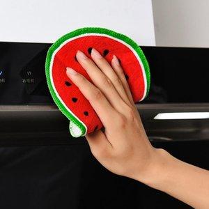 Fruit Imprimir Toalha de cozinha Pendure Adorável Quick-seco Dish Rag toalha de pano de mão Ferramentas de limpeza Cozinha HHAA902