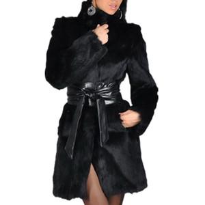 2019 autumn winter women fur mink coats  fur coat medium long Plus size 5XL imitation casual warm fashion jackets Parka