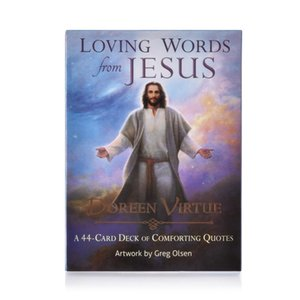 44 Loving Words From Jesus Tarot Cards Oracles Deck Mysterious Divination Tarot Deck for Women Girls Cards Game