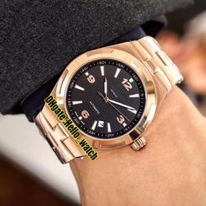 Cheap New Overseas 47040 / 000R-9666 Quadrante nero A2813 Orologio da uomo automatico 42mm Orologio da uomo in acciaio con cinturino in acciaio in oro rosa 5 colori V-E14 (3)