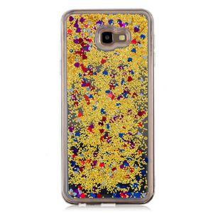 Para samsung galaxy j4 plus case capa quicksand flash glitter em pó espelho casos de telefone móvel duro