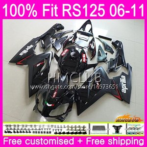 Injection For Aprilia RS-125 R RS125RR RS125 06 07 08 09 10 11 Stock black 36HM.2 RS4 RSV125 RS 125 2006 2007 2008 2009 2010 2011 Fairing