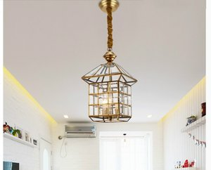 Bronze hängende Lampe D16cm / D25cm antike Messinghängelampe E27 Innenweinlese-Kupfer-Glas Hängelampe AC110V / 220V 100% garantiert