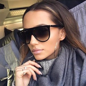 2020 Vintage Cat Eye Sunglasses Woman Fashion Glasses Flat Top Thin Shadow Uv400 Sun Glasses Pilot Luxury Designer Large Shades sILOG