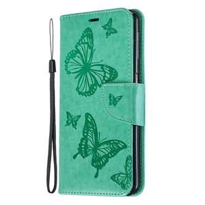 Für samsung galaxy m10 / m20 / m30 / a6 / a6 plus 2018 / a7 2018 case cover geprägt butterfly filp stehen leder brieftasche mit kartensteckplatz