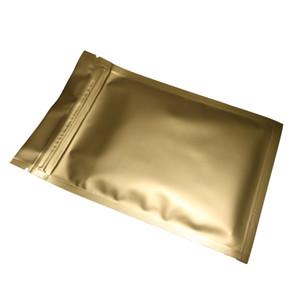 8x12cm, 100x calor selável folha de alumínio Mylar Mylar Matte Gold Ziplock Bags para Saco de Armazenamento