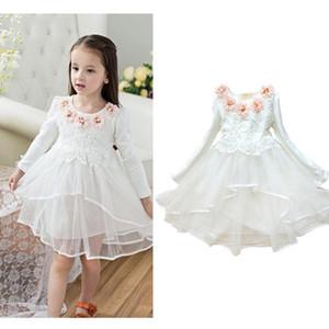Цветочница платье принцессы Пачка подарка партии вуаль венчания девушки цветка детей платье розовый зеленый Macarons конфеты цвета