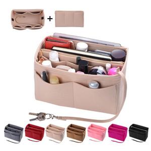 felt handbag organizer 5 colors storage tote travel bag insert multi pocket purse liner
