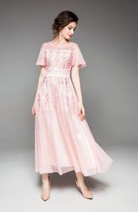 Europa y America2019 summerNew bordado túnica ceremonial malla llegadas de las mujeres o vestido