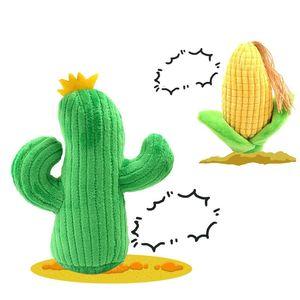 Pet Köpek Kedi Kemikleri Oyuncak Sevimli Peluş Cactus Mısır Şeklinde Köpek bitting Bebekler ile fonasyon Aygıt Hayvanlar Molar Oyuncak 10 2DG E1