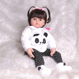 Bambino appena nato bambole 55CM 21.65inch Bella reale Reborn corpo alla ricerca del silicone pieno sveglio del bambino molle Bambola viva Per Ragazze principessa modo del capretto