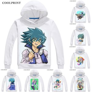 Johan Andersen Jesse Anderson Mens Hoodies Yu-Gi-Oh GX Duel Monsters Generation Next Sweatshirt Streetwear Anime Hoodie Long Hooded