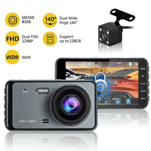 "4"" 2.5 D HD 1080P Dual Lens Car DVR Video Recorder Dash Cam G-Sensor Motion Detection / Parking Monitor автоматическая камера RVC"