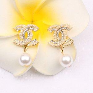 Japón y Corea Nueva Carta pendientes de estilo retro pendientes Europa y América del temperamento Perla Diamante S Wholesale