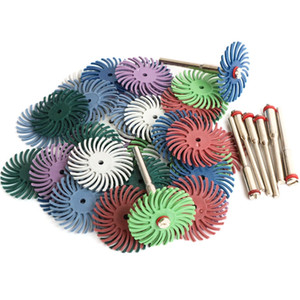 64Pcs 1 Inch Radial Bristle Disc Kit Abrasive Brush 3 and 2.35Mm Shank Detail Polishing Wheel for Rotary Tool Accessories