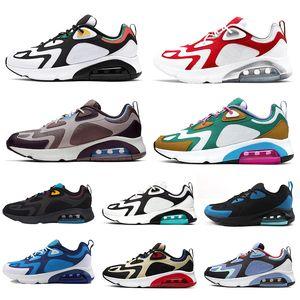 Nike air max 200 hotsale mulheres homens tênis 200 Bordéus Areia do Deserto Místico Verde Preto Pulseira Real dos homens formadores athletic sports sneakers 40-46