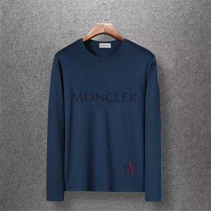 International elegant sweatshirt exquisite cotton round neck embroidered sportswear men's sweater long sleeve M-3XL07
