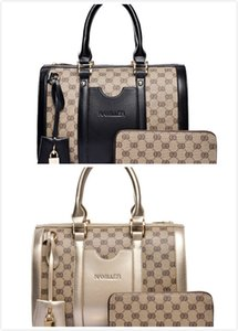 Hot New Style Design Master Fille Femmes Sac de femmes Impression européenne et American Fashion Portable Boston Bag Envoyer Wallet